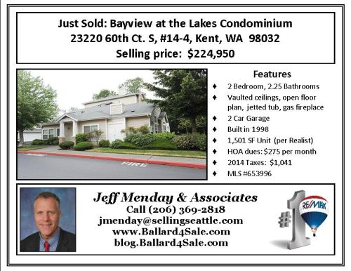 Just Sold Hawley Condo BLOG