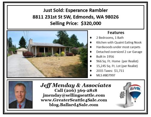 Just Sold -McNeil BLOG