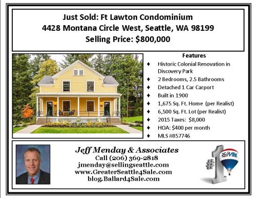 Just Sold Ft Lawton Duniway BLOG