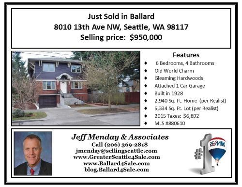 Just Sold - Duniway BLOG